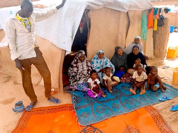 Flüchtlingsfamilie im Niger